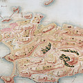 Detail Of A Map Of Rhode Island During French Occupation by French School
