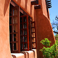 Detail Of A Pueblo Style Architecture In Santa Fe by Susanne Van Hulst
