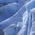Detail Of Blue Ice On Exit Glaicer by Rich Reid