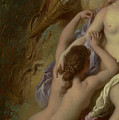 Detail Of Diana And Her Nymphs Bathing by Jean Francois de Troy