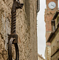 Detail Of Iron On A Wall Of Pienza, Tuscany, Italy by Sanchez PhotoArt