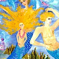 Detail Of Mer Mum And Comb The Family by Sushila Burgess
