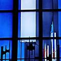 Detail Of Modern Johannes Schreiter Window Mainz 2 by Sarah Loft