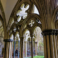 Detail Of Salisbury Cathedral Cloister  by Phyllis Taylor