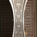 Detail Of The Decoration Of A Semi Arch In The Bahia Palace by Roberto Morgenthaler