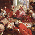 Detail Of The Last Supper by Jacopo Robusti Tintoretto