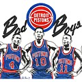 Detroit Bad Boys Pistons by Chris Brown