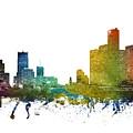 Detroit Cityscape 01 by Aged Pixel