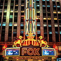 Detroit Fox Theatre Marquee by Christopher Arndt