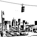 Detroit In Pencil  by Randy J Heath