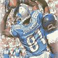 Detroit Lions Calvin Johnson 3 by Joe Hamilton