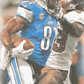 Detroit Lions Calvin Johnson 4 by Joe Hamilton