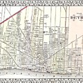 Detroit Michigan 1873 Map by Movie Poster Prints