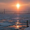 Detroit River Sunset by Jim West