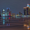 Detroit Skyline From Windsor In Hdr by Jay Smith