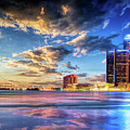 Detroit Skyline Sunset by Christopher Arndt