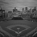Detroit Tigers Comerica Park Bw2  4837  by David Haskett II