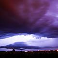 Developing Nebraska Night Shelf Cloud 001 by NebraskaSC