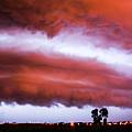 Developing Nebraska Night Shelf Cloud 009 by NebraskaSC