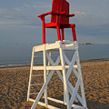 Devereux Beach Lifeguard Chair Marblehead Ma by Toby McGuire