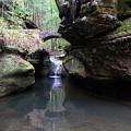 Devil's Bathtub Waterfall by Angela Murdock