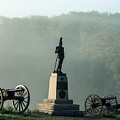 Devil's Den Monument At Gettysburg by John Greim