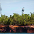 Devils Island Apostle Islands Lighthouse by Nikki Vig