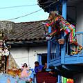 Devils Tease The Virgen Del Carmen Paucartambo Peru by James Brunker
