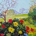 Devon Countryside Landscape Painting by Mike Jory