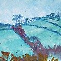 Devon Landscape Painting - Hills Near Exeter by Mike Jory