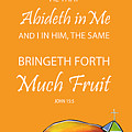 Devotional Art Banner - Scripture From John  by Jan Oliver-Schultz