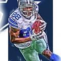 Dez Bryant Dallas Cowboys Oil Art by Joe Hamilton