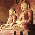 Dhammayangyi Temple Buddhas by Gloria & Richard Maschmeyer - Printscapes