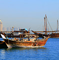Dhows In Doha Bay by Paul Cowan