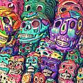 Dia De Los Muertos Sugar Skulls by Gregory Dyer