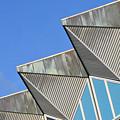 Diagonal Blue B by Donald Gibson