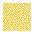 Diagonal Greek Key With Border In Mustard by Custom Home Fashions