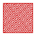 Diagonal Greek Key With Border In Red by Custom Home Fashions