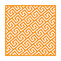 Diagonal Greek Key With Border In Tangerine by Custom Home Fashions