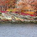 Diamond Island-mineral Deposits In Granite by Faith Harron Boudreau