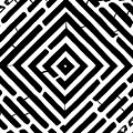 Diamond Shaped Optical Illusion Maze by Yonatan Frimer Maze Artist