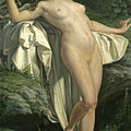 Diana At Her Bath by Alexandre Jacques Chantron