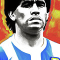 Diego Maradona By Nixo by Nicholas Efthimiou