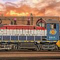Diesel Train Engine by Bill Posner