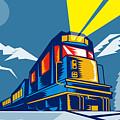 Diesel Train Winter by Aloysius Patrimonio