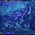 Digital Abstract Crystals In Iwarp Cosmos 3 by G Linsenmayer
