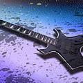 Digital-art E-guitar II by Melanie Viola