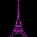 Digital-art Eiffel Tower Pink by Melanie Viola