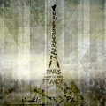 Digital-art Paris Eiffel Tower Geometric Mix No.1 by Melanie Viola