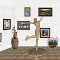 digital exhibition _ A sculpture of a dancing girl 11 by Pemaro
